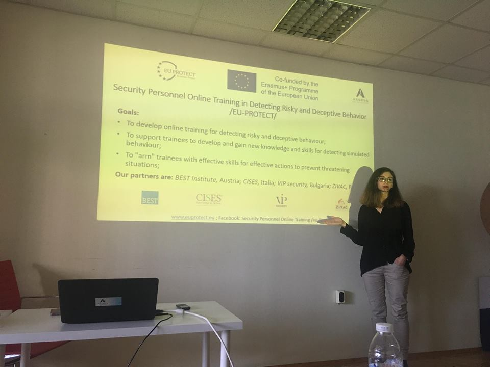 "EU PROTECT was presented on  internship program ""Criminal Psychology and Polygraph Examinations"""